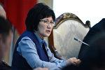 Жогорку соттун төрайымынын орун басары Айнаш Токбаева. Архив