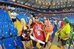 Кыргызстанец Арсен Алтыбаев на матче Бельгия — Япония в Ростове-на-Дону