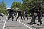 Патрульно-постовая служба милиции ГУВД Бишкека отметила 39-летие на плацу спортивного комплекса Динамо.