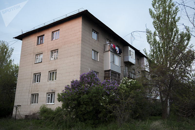 Жилой многоэтажный дом в городе Бишкек. Архивное фото