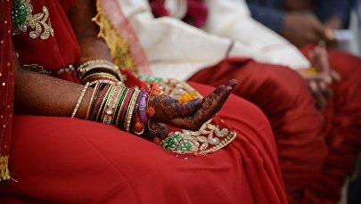 Церемония бракосочетания в Индии. Архивное фото