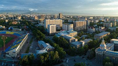Вид на жилые дома в Бишкеке с дрона. Архивное фото