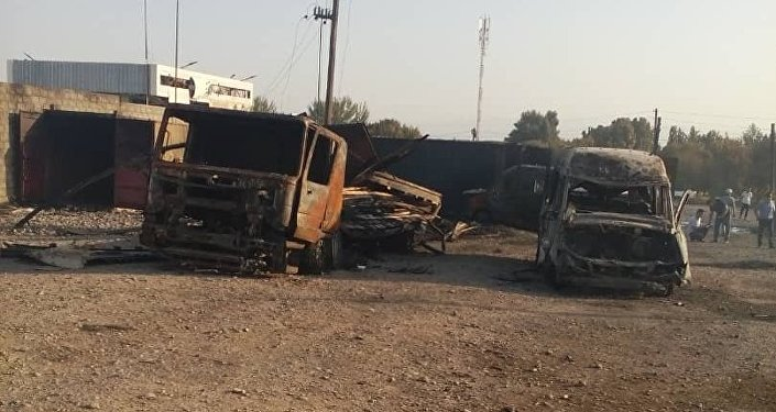 При взрыве наАЗС награнице Таджикистана иКыргызстана пострадали два человека