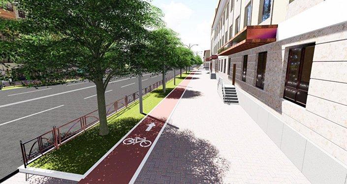 Согласно проекту муниципального предприятия Бишкекглавархитектура, велодорожки обустроят вместо автопарковок