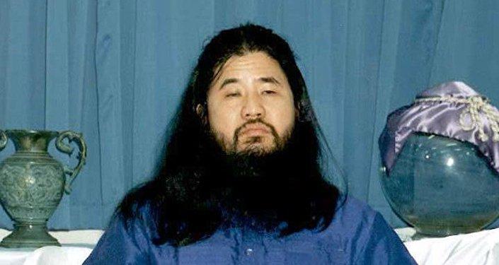 Основатель секты Аум Синрикё* Сёко Асахара. Архивное фото
