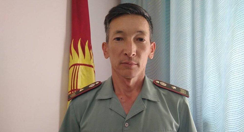 ӨКМдин Бишкек шаары боюнча башкармалыгынын куткаруу кызматынын башчысы Мелис Назарбеков