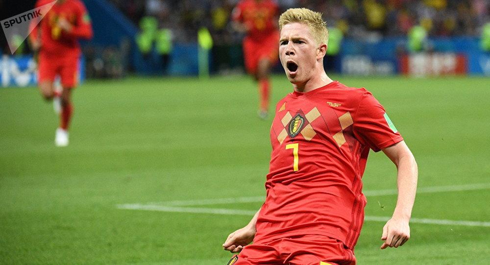 Бельгиянын Кевин Де Брёйне футболчусу. Архивдик сүрөт