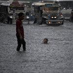 Сильные дожди в Маниле