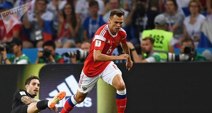 Первый гол забил Денис Черышев на 31 минуте игры