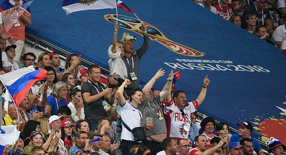 Матчи 1/4 финала чемпионата мира по футболу между сборными России и Хорватии