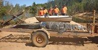 Отлов гребнистого крокодила в Австралии