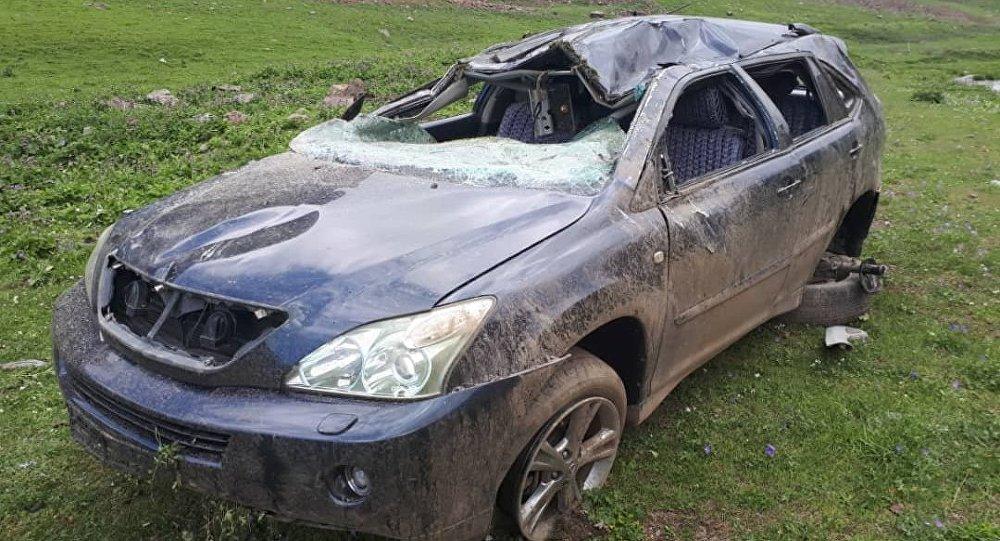 Последствие ДТП в Токтогульском районе Джалал-Абада