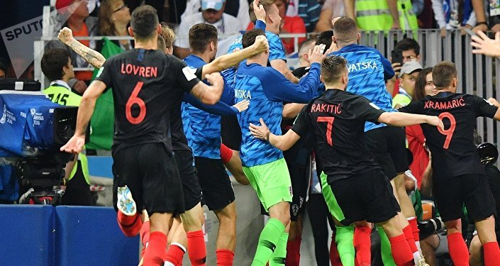 Сборная Хорватии победила команду Англии и вышла в финал Чемпионата мира по футболу