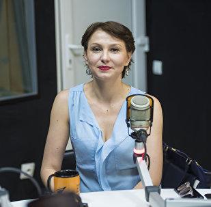 Генеральный директор компании Аргалис KG Мария Рахманова во время интервью на радио Sputnik Кыргызстан