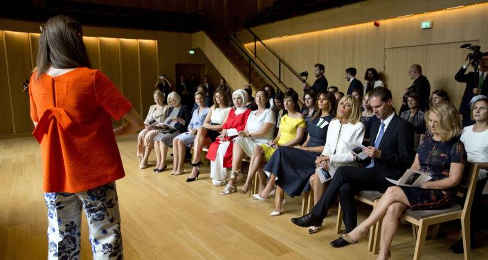 Первые леди на саммите НАТО в Брюсселе