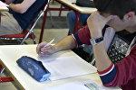 Студент на экзамене. Архивное фото