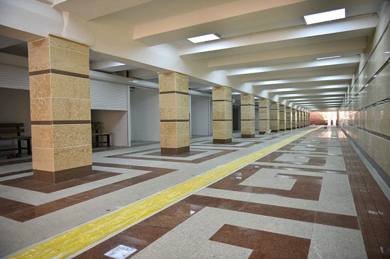 Вид на подземный пешеходный переход в Бишкеке после ремонта