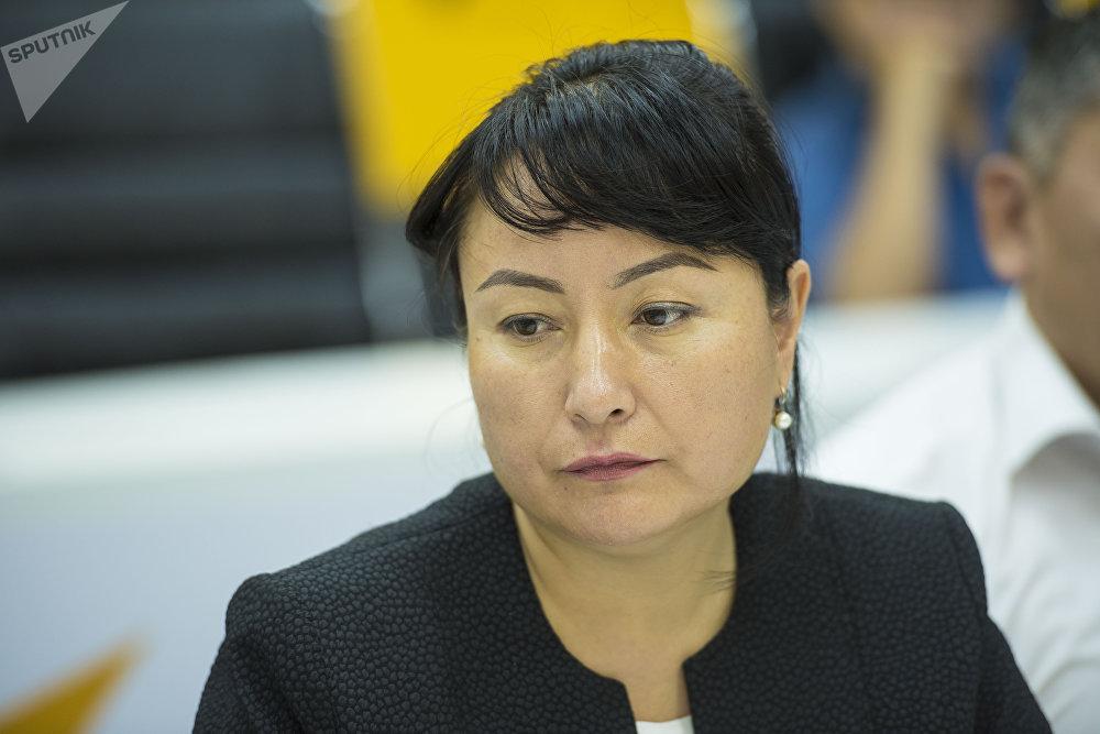 Заместитель начальника управления пограничного контроля Государственной пограничной службы Гульсара Исмаилова