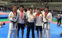 Кыргызстанцы взяли четыре призовых места на Чемпионате мира по таэквондо WT среди студентов в городе Поханг (Южная Корея)