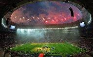 Салют на церемонии награждения победителей чемпионата мира по футболу 2018 на стадион Лужники в Москве. Архивное фото