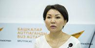 Вице-премьер Эльвира Сурабалдиева. Архивдик сүрөт