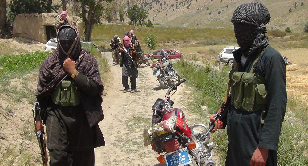 Члены радикального движения Талибан Афганистана. Архивное фото