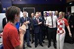 Президент РФ В. Путин и премьер-министр РФ Д. Медведев посетили финальный матч чемпионата мира по футболу 2018