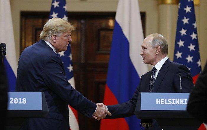 АКШ президенти Дональд Трамп россиялык кесиптеши Владимир Путин менен болгон жолугушуусу