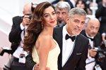 Актер Джордж Клуни с супругой Амаль. Архивное фото