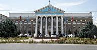 Вид на фасад мэрии Бишкека