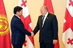 Кыргызстандын премьер-министри Мухаммедкалый Абылгазиев Грузиянын президенти Георгий Маргвелашвили менен жолукту