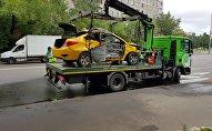 Москвада кыргызстандык таксист, эки жүргүнчүсү менен жол кырсыгына кабылып баары мерт болду