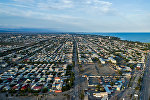 Вид на город Балыкчи с высоты. Архивное фото