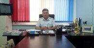 Подполковник милиции, начальник Управления обеспечения безопасности дорожного движения УОБДД по ГУВД Бишкека Белек Алымов