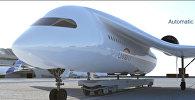 Летающий поезд строят во Франции, размах крыльев — 49 метров. Видео