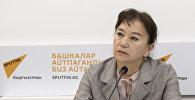 Депутат Жогорку Кенеша Айнуру Алтыбаева в пресс-центре Sputnik Кыргызстан