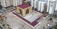 Бишкекте өзгөчө стиль менен 7-апрель шейиттери мечити салынууда. Видео
