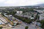 Вид на спальные микрорайоны Бишкека с высоты. Архивное фото