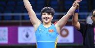 Спортсменка из Кыргызстана Мээрим Жуманазарова после победы на чемпионате Азии среди юниров в Нью-Дели