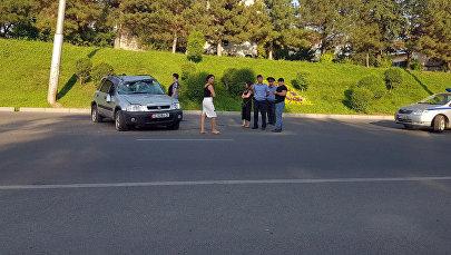 Бишкекте Honda CRV үлгүсүндөгү унаа оодарылды