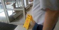 Эликтин чаарчыгы Москвадагы автосалонго кирип чаң-тополоң салды. Видео