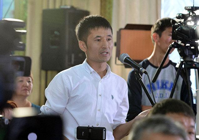 Журналист радио Азаттык Улан Эгизбаев