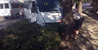 В Бишкеке столкнулись пассажирский микроавтобус Mercedes-Benz и Toyota Prius