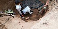 В ущелье Кырчын на Иссык-Куле нашли останки воина, предположительно, IV-V века до нашей эры