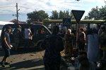 Борбор калаадагы Фрунзе менен Курманалиев көчөсүнүн кесилишинде 25-июлда Toyota Aristo жеңил автоунаасы менен №38 каттамдагы автобус кагышкан