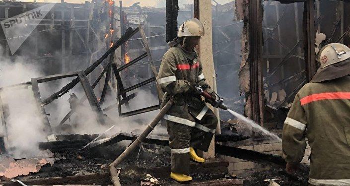 Пожар в коттедже в одном из пансионатов Иссык-Куля