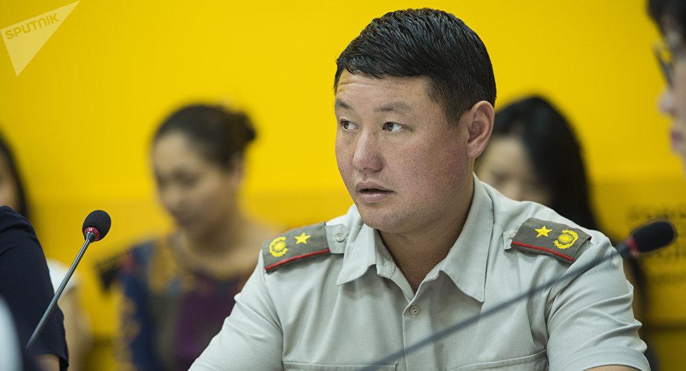 ӨКМдин Авариялык куткаруу иш-чараларын өткөрүү жана жарандык коргонуу башкармалыгынын башчысынын орун басары, подполковник Рыспек Жолдошбаев