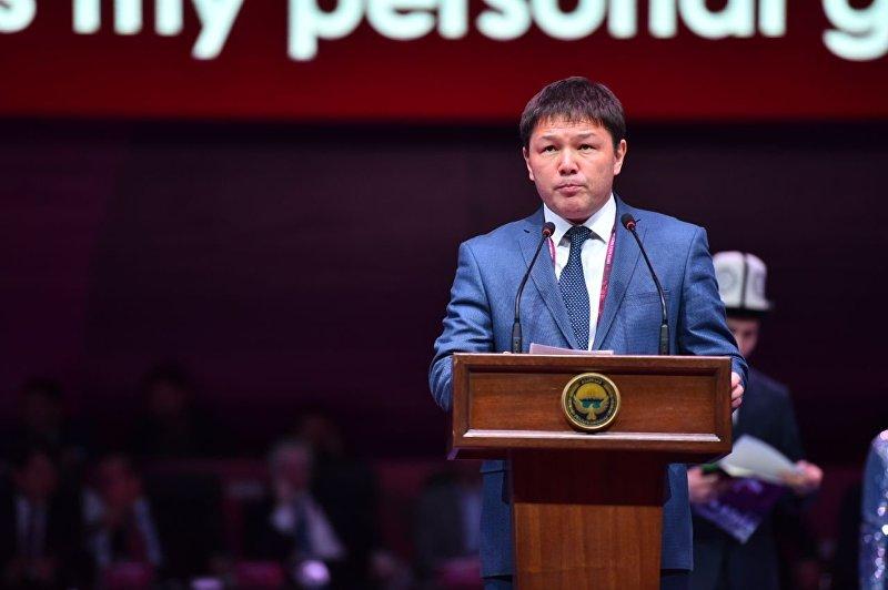 Директор ГАФКиС при правительстве КР Канат Аманкулов на церемонии открытия Чемпионата Азии по борьбе в Бишкеке