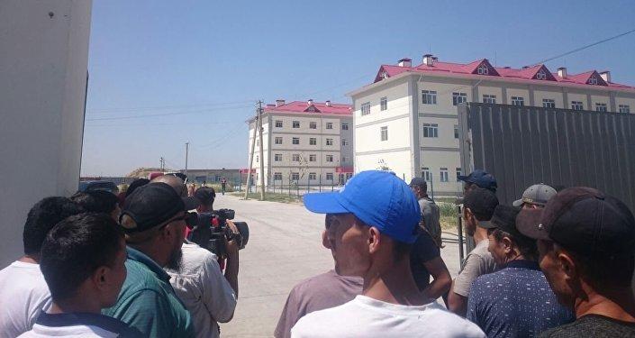 Сотрудники ГУВД Чуйской области выехали на место происшествия