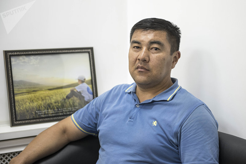 Руководитель коллективного хозяйства Спартак Бакыт Мамытканов